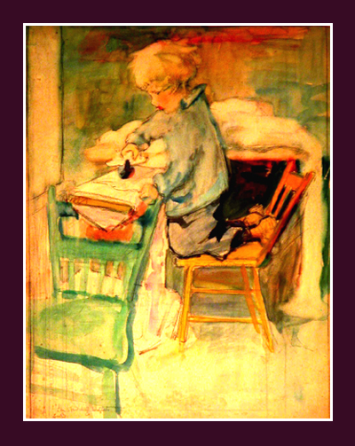 "Anita Willets Burnham, ""Willets Ironing,"" c 1913"