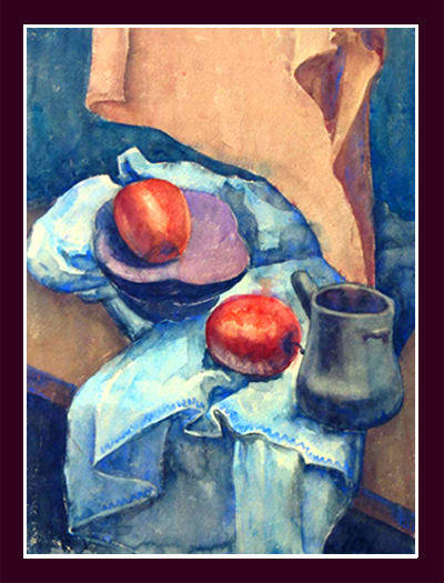 "Ann Burnham Smith, ""Still Life with Apples,"""