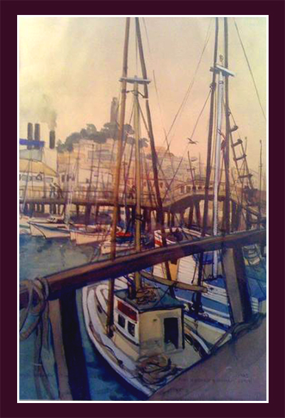 "Ann Burnham Smith, ""Sailboats in San Francisco"